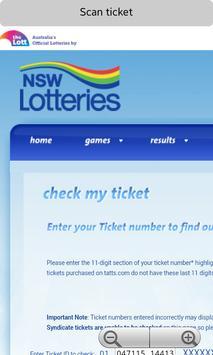 NSW Lotto Ticket Checker poster