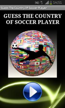 Guess Country Of Soccer Player poster