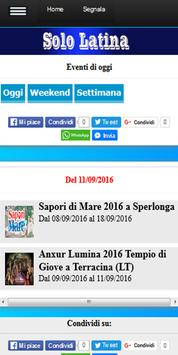 Latina eventi sagre concerti apk screenshot