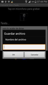 Voz2Texto apk screenshot