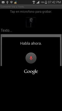 Voz2Texto screenshot 1