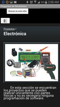 Proyectos de Electrónica apk screenshot