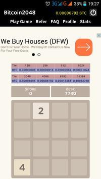Bitcoin 2048 Faucet Game Apk Download Free Puzzle Screenshot