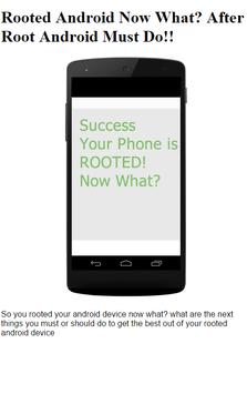 After Rooting Android Must DO! poster