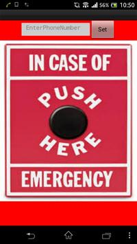 Emergency Assistance Button poster