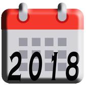 Calendar 2018 icon