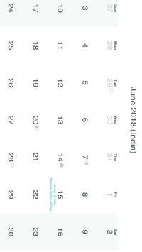 Calendar 2018 screenshot 6