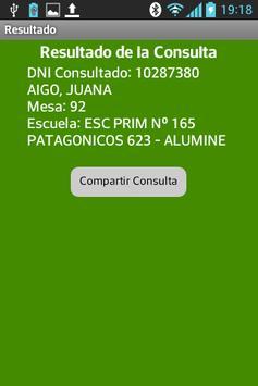 Padrón Electoral Neuquén screenshot 2