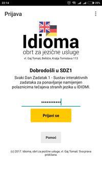 Idioma SDZ1 poster