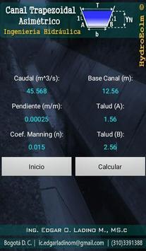 Diseño de Canales Hidráulicos HydroEolm تصوير الشاشة 5