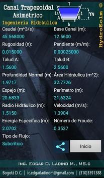Diseño de Canales Hidráulicos HydroEolm تصوير الشاشة 6