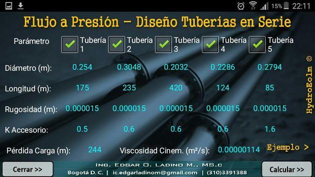 Sistema de Tuberías en Serie. Series Piping System screenshot 1