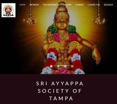 Ayyappa Temple Tampa - SASTA plakat