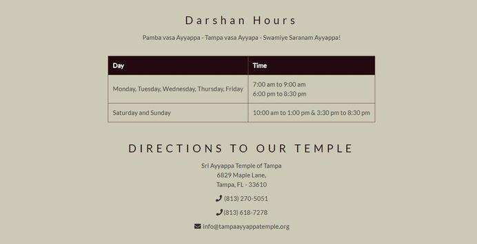 Ayyappa Temple Tampa - SASTA screenshot 1