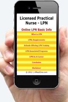 Online LPN Programs Info poster