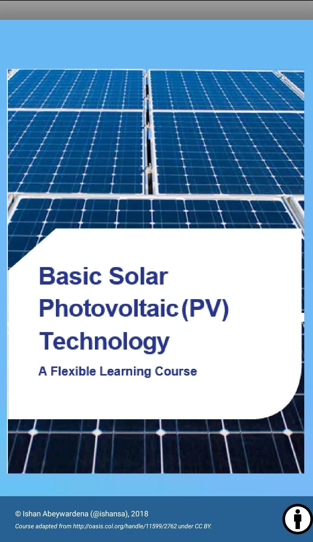 Solar PV Technology Mobile Course for Android - APK Download