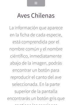 AVES CHILENAS apk screenshot