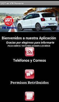 UGT en VW Navarra poster