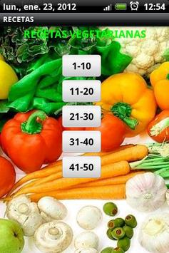 Recetas Vegetarianas poster