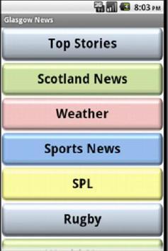 Glasgow News poster