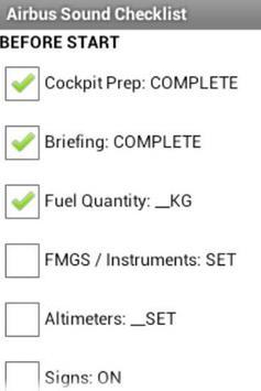 Airbus Sound Checklist poster