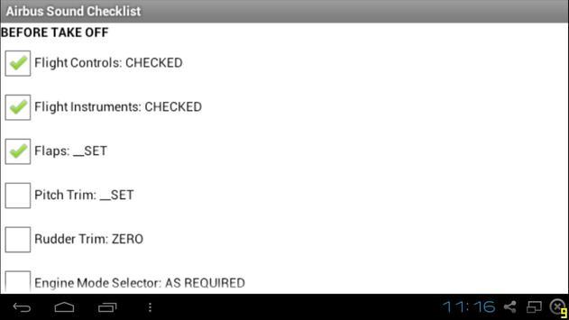 Airbus Sound Checklist apk screenshot