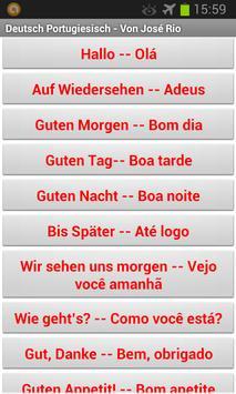 Deutsch Portugiesisch apk screenshot