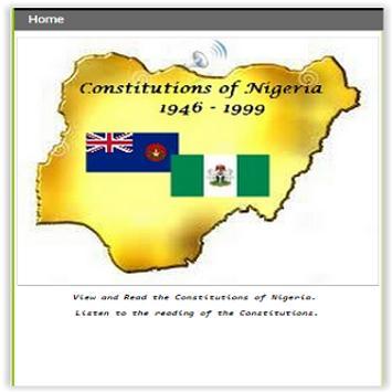 ConstitutionsofNigeria19461999 poster