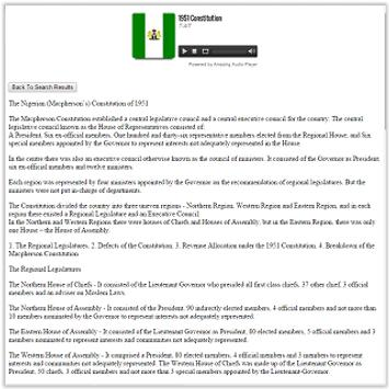 ConstitutionsofNigeria19461999 apk screenshot
