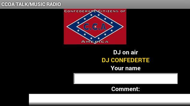CCOA TALK/MUSIC RADIO screenshot 1