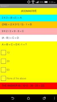 BODMASTER - Maths Quiz screenshot 1