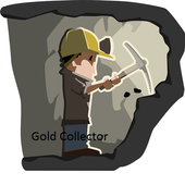 Gold collector icon