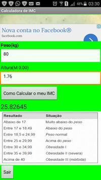 Calculadora IMC apk screenshot