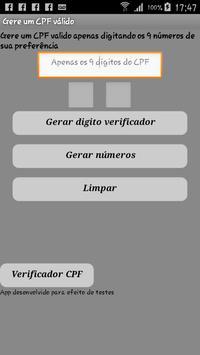 |Gerador de CPF Lite screenshot 2