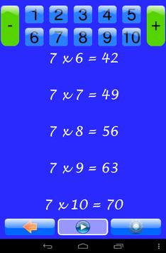 Times tables for elementary apk screenshot