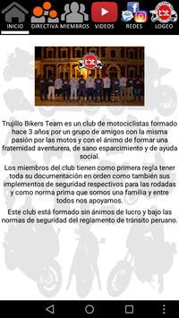 Trujillo Bikers Team - TBT apk screenshot