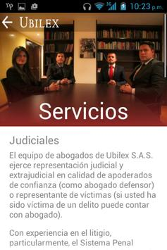 Abogados Ubilex screenshot 3