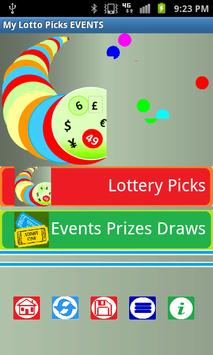 My Lotto Picks EVENTS poster