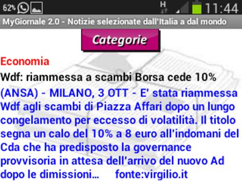 MyGiornale apk screenshot