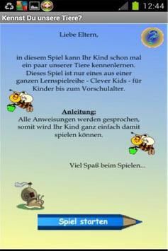 Clever Kids - Tiere finden poster