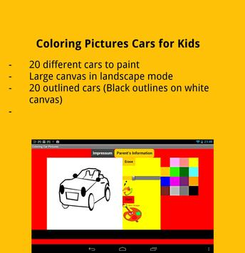 Coloring Pictures Cars screenshot 4