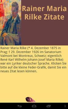 Rilke Zitate poster
