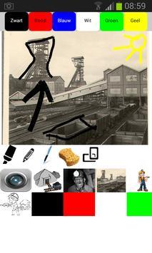 Teken over de steenkoolmijn poster