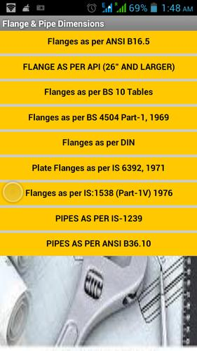 Flange & Pipe Dimensions for Android - APK Download