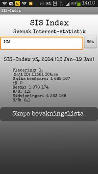 SIS index - Internet statistik poster