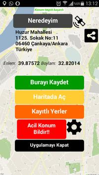 Yer Kayıt - Adres Defteri apk screenshot