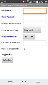 Lease Vs Buy Car Calculator >> Car Lease Vs Buy Calculator For Android Apk Download