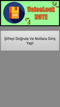 VoiceLock Note Ses Şifreli Not poster