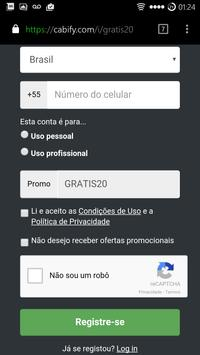 Uber e Cabify Grátis (cupom) apk screenshot