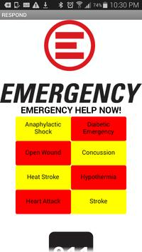 Quick Emergency Help Guideline poster